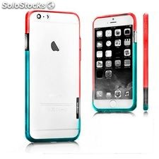 Bumper Bicolor iPhone 6 X-ONE 109956 Blanco Azul