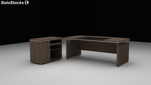 Bureau de direction new pisa 2 metres wenge for Bureau 2 metres
