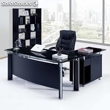 bureau en verre. Black Bedroom Furniture Sets. Home Design Ideas