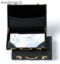 Businesscard Holder Black Artificial Leather