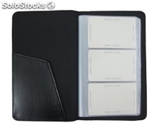 Businesscard Holder Black Bonded Leather
