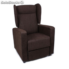 Butaca reclinable en color chocolate modelo torino