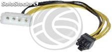 Cable 4Pin molex-m 6Pin pci-express-h (Mini-Fit 3.96Pitch) (VP11)