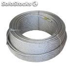 Cable acero 6MM.galv.(6X7X1) r-100MT.