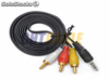 Cable audio 3.5mm jack a 3 RCA macho