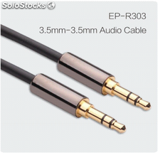 Cable audio alta calidad 3.5mm oro plateado chaqueta pvc cables al por mayor.