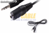 Cable audio jack 3.5 macho - hembra