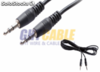 Cable audio jack 3.5 macho - macho