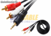 Cable audio jack stereo 3,5mm. macho - 2 x rca macho
