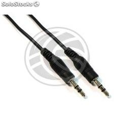 Cable Audio Stereo MiniJack 3.5 M/M 20cm (TV77)