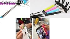cable Autofoto palo wired selfie stick monopod z075p