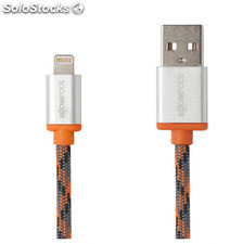 Cable Boompods Retro Naranja 1M Apple