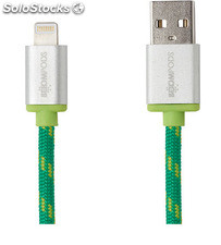 Cable Boompods Retro Verde 1M Apple