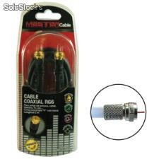 Cable coaxial rg6 tipo f