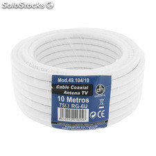 Cable coaxial TV Pack 10 m Electro Dh 49.104/10 8430552116256
