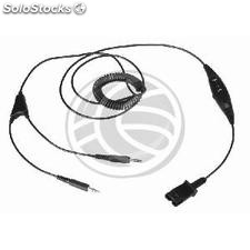 Cable compatible with Plantronics QD 2 minijack 3.5 \\ \'\\\' with switch (KG62)