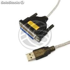 Cable converter from USB to parallel port A male to DB25 female 1.5 m (US20)