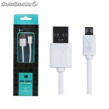 Cable datos One Micro USB 2000M 1m Blanco