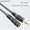 Cable de audio A / M-AF de 3.5mm para reproductor de CD Cables de DVD