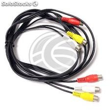 Cable de audio vídeo estéreo 2m 3xRCA hembra-hembra (VB21)