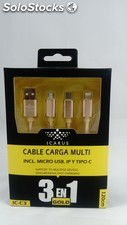 Cable de carga multi icarus ic-C3