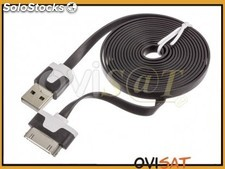 Cable de datos USB en color negro para Apple iPhone 3, 3G, 3GS, 4, 4S,4G, iPad