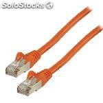 Cable de red ftp cat 6 de 0.25M naranja