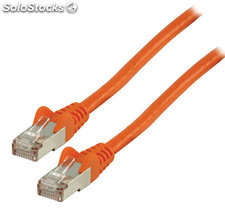 Cable de red FTP CAT 6 de 10.00m naranja Valueline