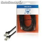 Cable de red ftp CAT6, RJ45 macho RJ45 macho, 10,0 m, negro