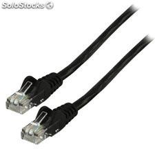Cable de red UTP CAT 5e de 30.00m negro Valueline