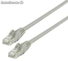 Cable de red UTP CAT 6 de 10.00m gris Valueline
