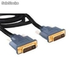 Cable de video DVI 24+1 macho/DVI 24+1 macho 1.8mts