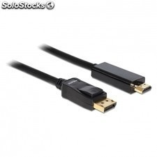 Cable delock 82587 displayport 1.2 macho a high speed hdmi macho - 2 metros