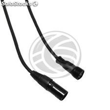 Cable dmx DMX512 xlr 3pin macho a xlr-IP65 3pin hembra 1m (XO32-0002)