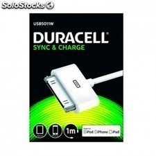 Cable duracell usb - apple 30 pin - carga /datos iphone 4 / 4s / 3 / 3gs /