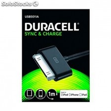 Cable duracell usb - apple 30 pin - carga /datos iphone 4 / 4S / 3 / 3GS / ipod