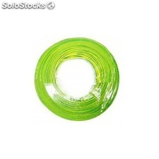 Cable electricidad nivel hilo flexible 750V amarillo/verde 2.5MM CF1025 200 mt