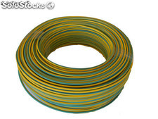 cable flexible h07v-k 1x4 mm 25 metros (amarillo-verde)