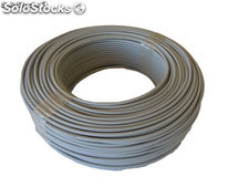 cable flexible lszh (libre de halogenos) h07z1-k (as) 1*1,5mm 25 metros(gris)
