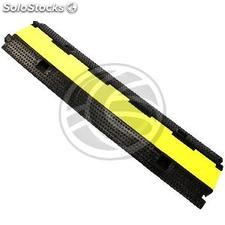 Cable floor cover protector trunking rubber bumper 2 way 98x24cm black (BT11)
