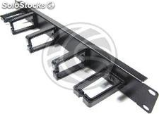 Cable guide for rack19 Panel 1U 2 +3 plastic rings (RP93)