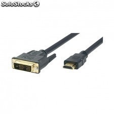 Cable hdmi 19macho-dvi 18+1macho tipo a para conectar PC a TV hdmi 3 metros -