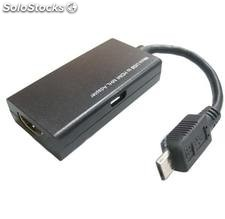 Cable HDMI a micro usb para Samsung Galaxy S2, i9100, HTC Sensation