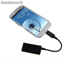 Cable HDMI a micro USB para Samsung Galaxy S3, i9300, Note 2