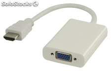 Cable HDMI™ adaptador HDMI - VGA + 3.5 mm 0.20 m en color blanco Valueline