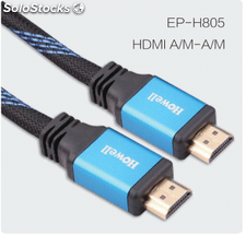 Cable HDMI alta velocidad Ethernet 3D 1-50m oro plateado cables al por mayor.