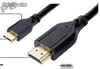 Cable hdmi / Mini hdmi version 1.3 de 2 metros punta dorada