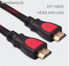 Cable HDMI nilón trenzado para ps4 apoya 4k 1080p 3D Ethernet cables por mayor.