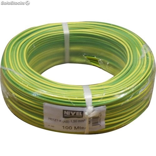 Cable Hilo Flexible H07Z1-K Libre Halogen 1,50 Ama/Ver 100Mt