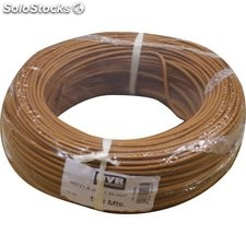 Cable Hilo Flexible H07Z1-K Libre Halogeno 1,50 Marron 100Mt